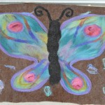 Felted Butterfly Rug